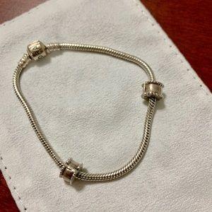 Pandora Bracelet w/ Clips